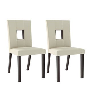 Buy White Leather Kitchen Dining Room Chairs Online At