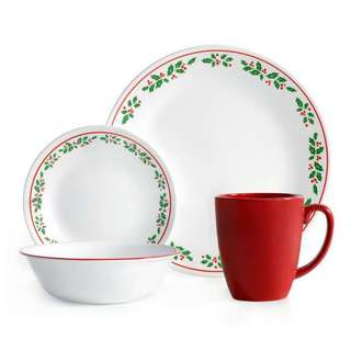 Corelle Livingware Winter Holly 16-piece Dinnerware Set