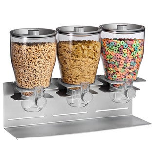 Honey-Can-Do Commercial Plus Triple Canister Dispenser, silver