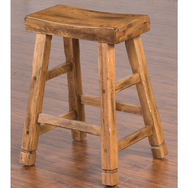 24 inch bar stools Shop Sunny Designs Sedona 24 inch Saddle Seat Bar Stool   Free  24 inch bar stools