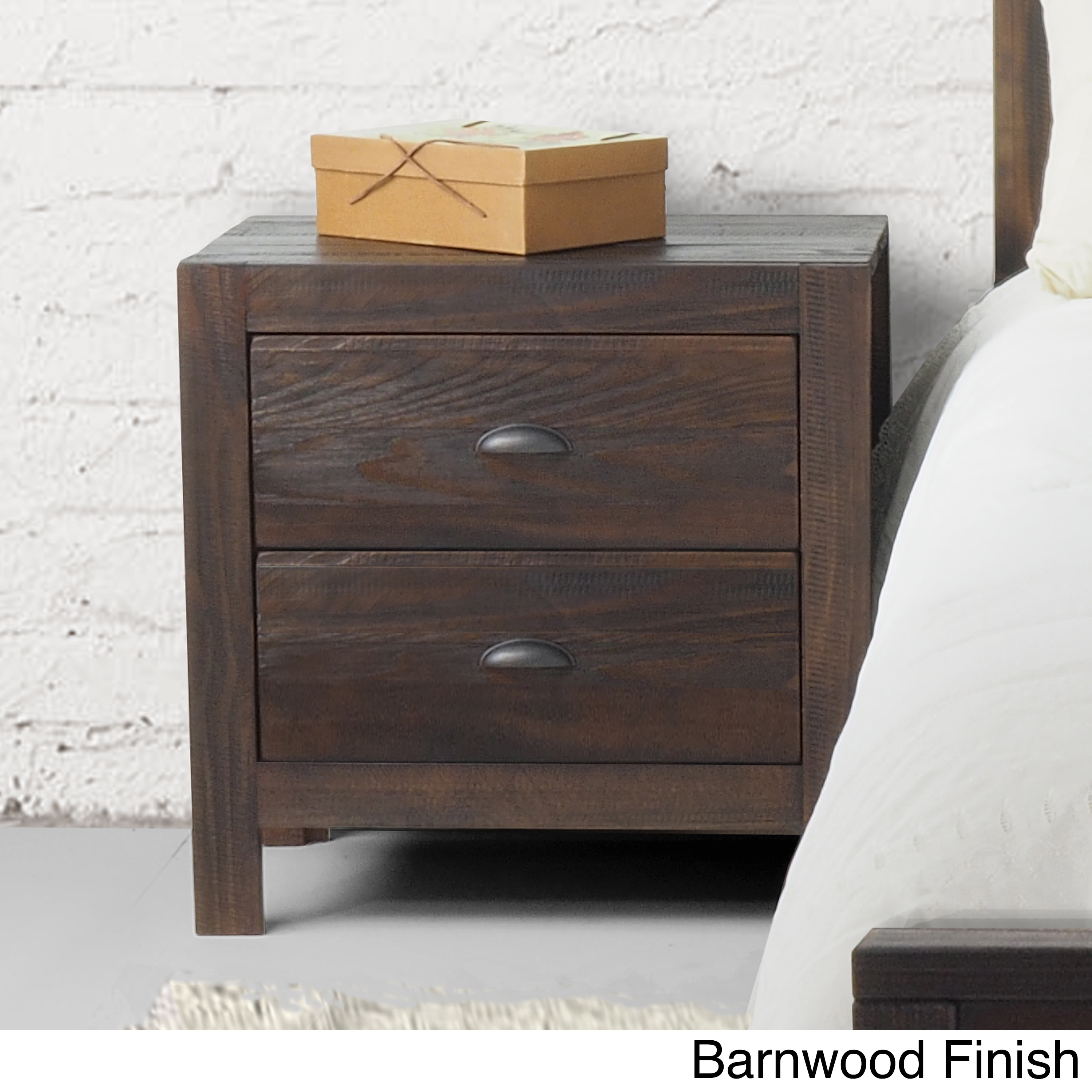 the latest eda6a 6021e Grain Wood Furniture Montauk 2-drawer Nightstand Solid Wood