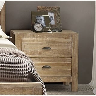 Grain Wood Furniture Montauk 2 Drawer Nightstand Solid Wood
