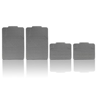 FH Group Gray Anti-slip Modern Checker Style All Weather Auto Floor Mats