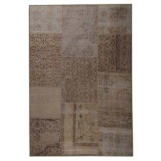 M.A.Trading Hand Printed Konya Sand Vintage Print rug (2'x3')