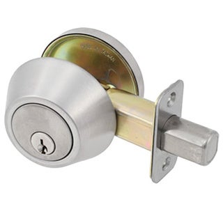 Dclose Harmony Series Satin Chrome Single Cylinder Entrance Deadbolt