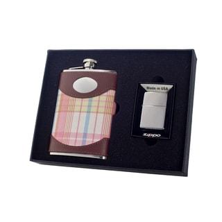 "Visol ""Hannah"" 8oz Flask and Zippo Lighter Gift Set"