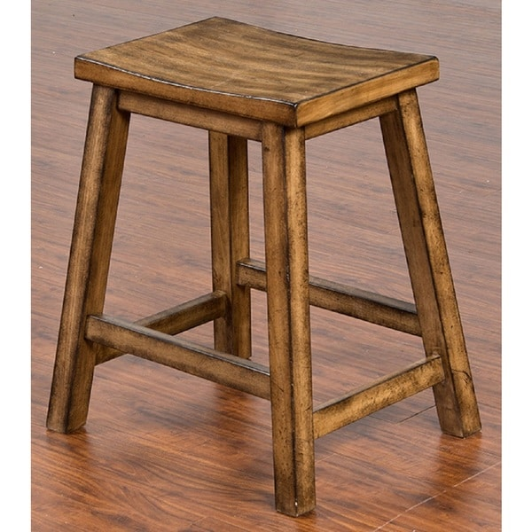 shop sunny designs cornerstone backless 24 inch bar stool free shipping today overstock. Black Bedroom Furniture Sets. Home Design Ideas