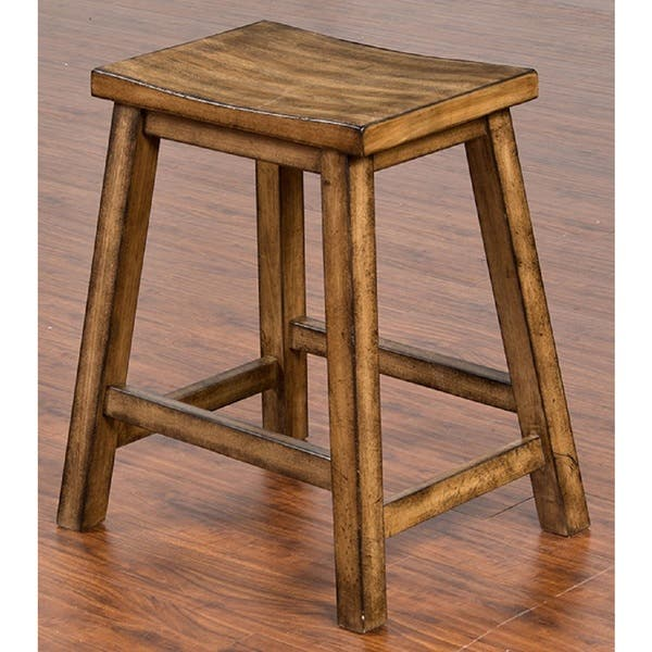Excellent Sunny Designs Cornerstone Backless 24 Inch Bar Stool Customarchery Wood Chair Design Ideas Customarcherynet