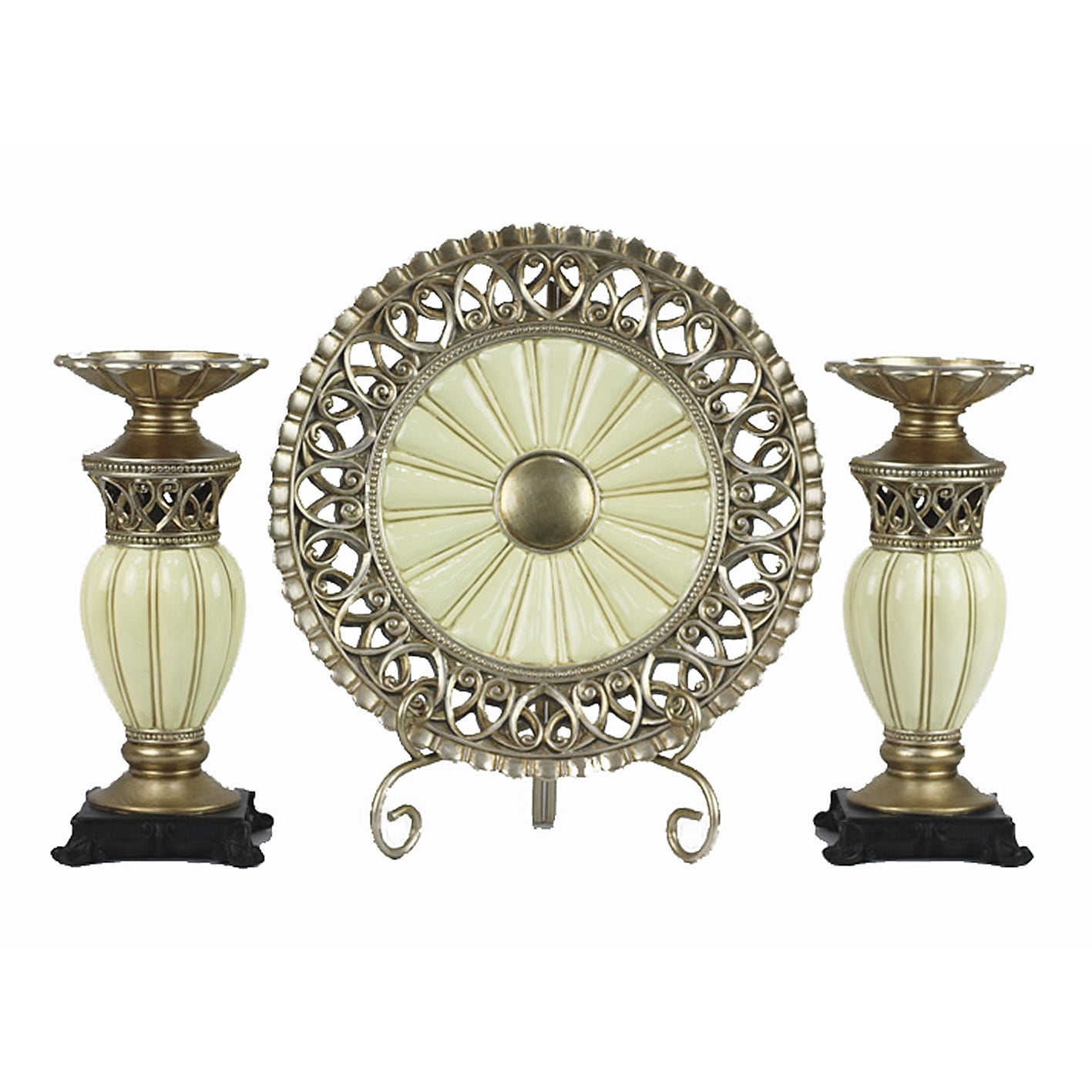 D'Lusso Designs Juliana Collection Four Piece Charger wit...
