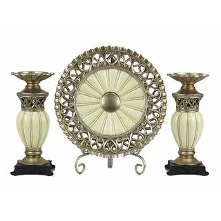 D'Lusso Designs Juliana Collection Four Piece Charger with Stand and Two Candlestick Set|https://ak1.ostkcdn.com/images/products/10814433/P17859395.jpg?impolicy=medium