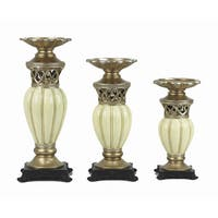 D'Lusso Designs Juliana Collection Three Piece Hurricane Candle Set