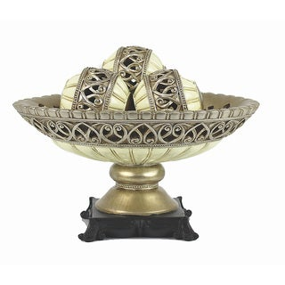 D'Lusso Designs Juliana Collection Four Piece Bowl with Three Orbs Set