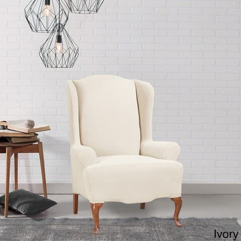Sure Fit Stretch Morgan Wing Chair Furniture Cover