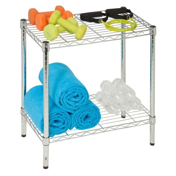 Honey-Can-Do 2-tier chrome utility shelf