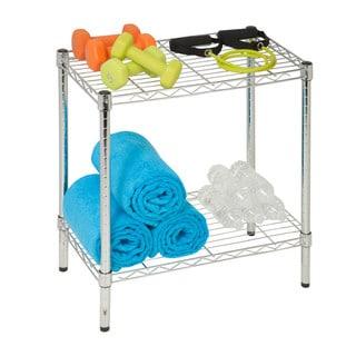 2-tier chrome utility shelf