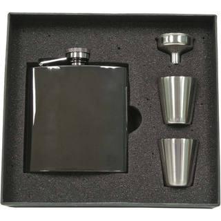 Visol Outlaw Gunmetal Supreme Flask Gift Set - 6 ounces