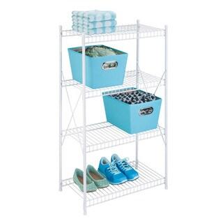 Honey-Can-Do 4-tier storage shelf, white wire