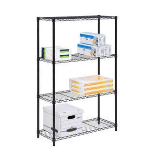 4-tier shelving unit, 350lb black