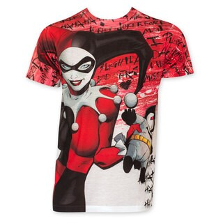 Harley Quinn Sublimated Batman Voodoo Doll Tee Shirt