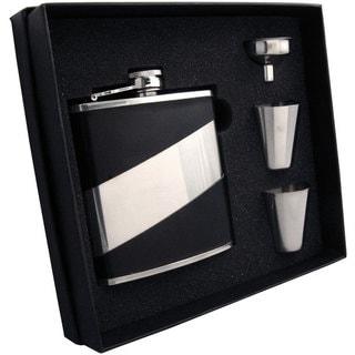 Visol Descent Deux Black & Stainless Steel Supreme Flask Gift Set - 6 ounces