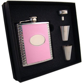 Visol Supermodel Pink & Stainless Steel Supreme Flask Gift Set - 6 ounces