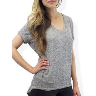 Relished Women's Grey Coffeehouse Sweater Tee