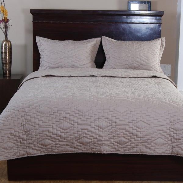 Diane Beige 3-piece Quilt Set