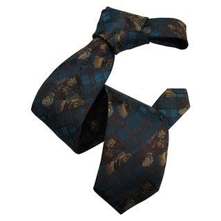 Dmitry Men's Emerald Green Patterned Italian Silk Tie