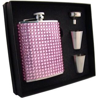 Visol Kylie Pink Bling Supreme Flask Gift Set - 6 ounces