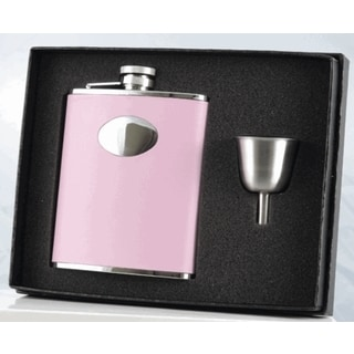 Visol Daydream Pink Leather Legacy Flask Gift Set - 6 ounces