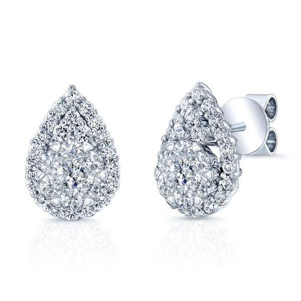 tw diamond stud set prong earrings loading zoom ct