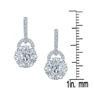 14k White Gold 1 1/4ct TDW Diamond Drop Earrings (H-I, SI1-SI2)