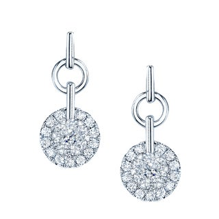 14k White Gold 1/3ct TDW Diamond Drop Earrings (H-I, SI1-SI2)