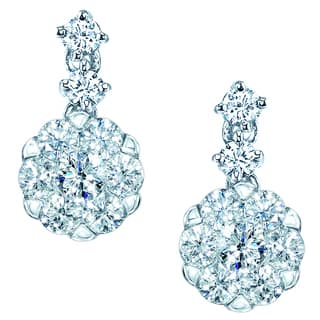 14k White Gold 3/4ct TDW Diamond Dangle Earrings|https://ak1.ostkcdn.com/images/products/10824497/P17868291.jpg?impolicy=medium