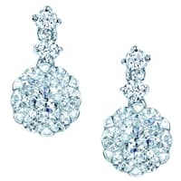 14k White Gold 3/4ct TDW Diamond Dangle Earrings