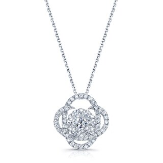 14k White Gold 3/4ct TDW Diamond Pendant