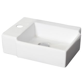 16.25-in. W x 12-in. D Above Counter Rectangle Vessel In White Color For Single Hole Faucet