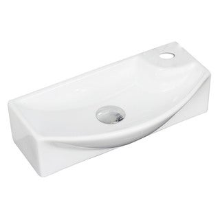 18-in. W x 9-in. D Above Counter Rectangle Vessel In White Color For Single Hole Faucet