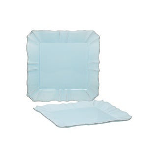 Countryside Whisper Blue Square 12.25-inch Platter (Set of 2)