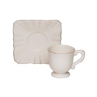 Countryside Cream Espresso Cup / Saucer (Set of 4)