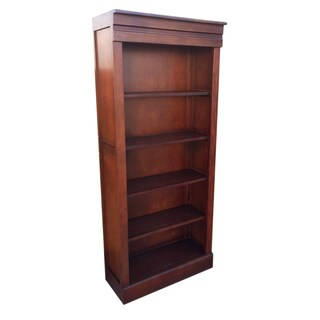 Handmade D-Art Bellevue Mahogany Wood Tall Bookcase (Indonesia)