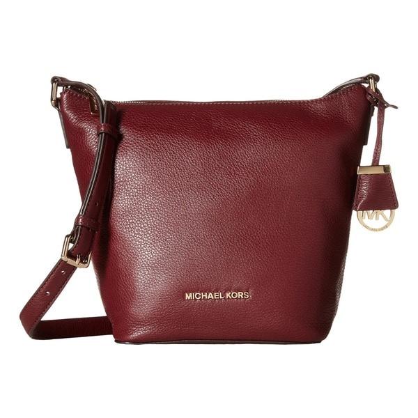 d6441386061b Shop Michael Kors Bedford Medium Merlot Crossbody Handbag - Free ...