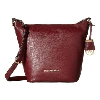 Micheal Kors Bedford Medium Merlot Crossbody Handbag