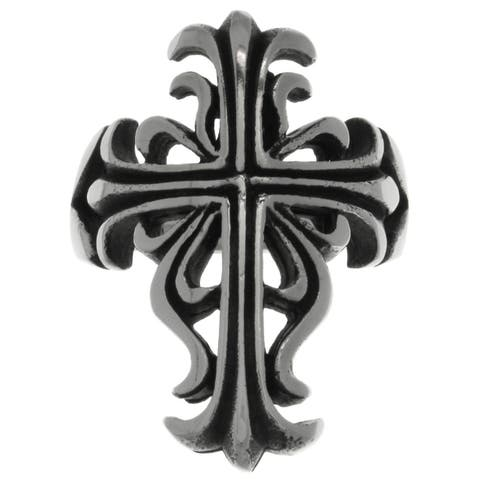 Carolina Glamour Collection Stainless Steel Large Celtic Cross Gothic Band Ring