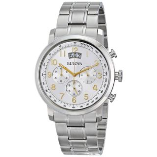 Bulova Men's 96B201 Chronograph Stainless Steel Watch