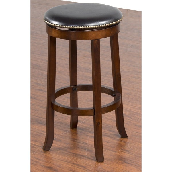 Shop Sunny Designs Cappuccino Swivel Backless Bar Stool Free