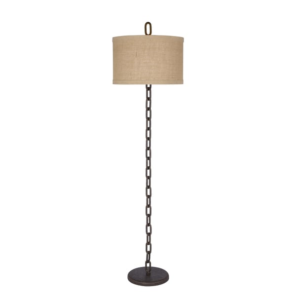 65 inch Metal Chain Floor Lamp in Brown Finish