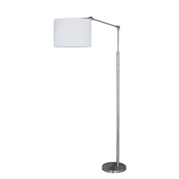 74 inch Metal Floor Lamp in Satin Nickel