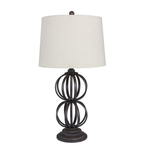 31 inch Bronze Metal Ball Table Lamp