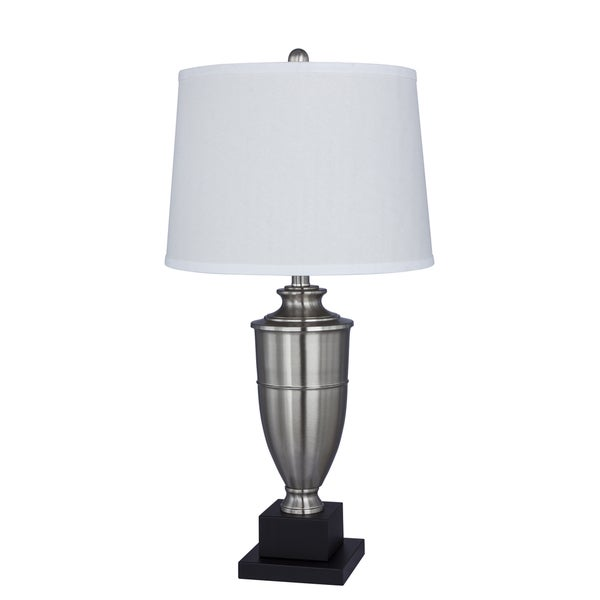 30 inch Metal Table Lamp in Brushed Steel
